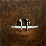 SYMETRIA XXIII - olej/akryl-płótno 45x45 cm